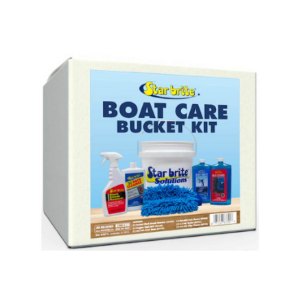 Boat Cleaning Kit box with contents on box front label