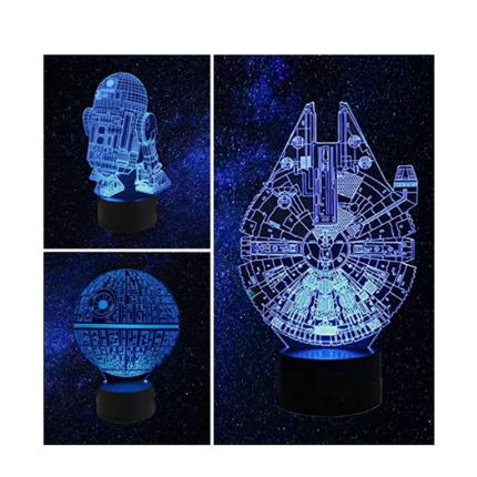 Star Wars 3D lamp design options